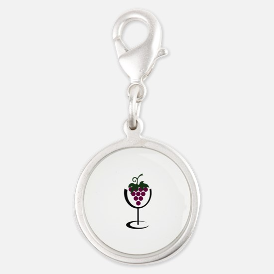 WINE GLASS GRAPES Charms