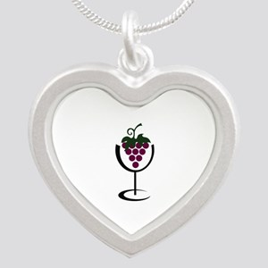 WINE GLASS GRAPES Necklaces