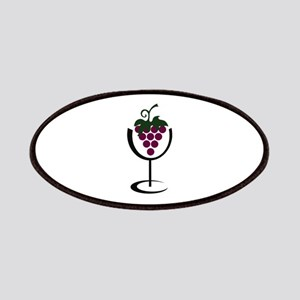 WINE GLASS GRAPES Patches