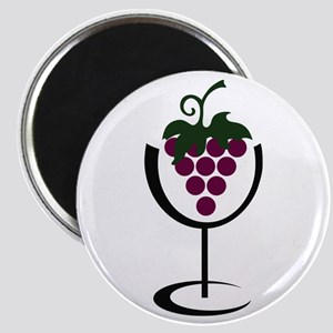 WINE GLASS GRAPES Magnets