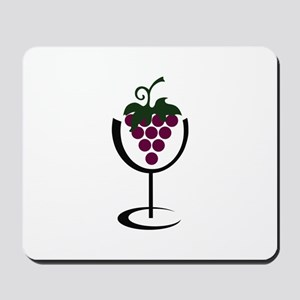 WINE GLASS GRAPES Mousepad