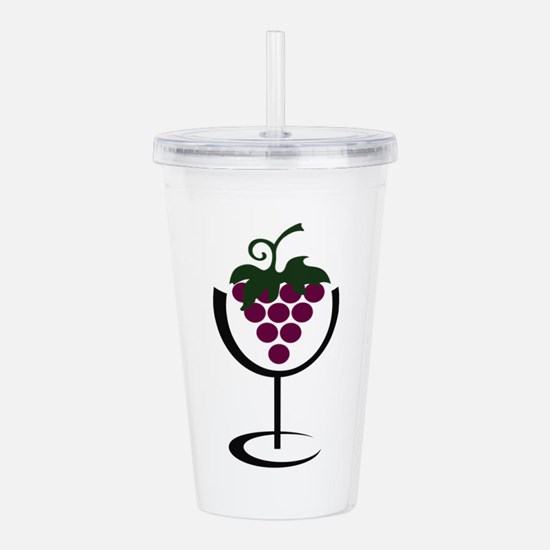 WINE GLASS GRAPES Acrylic Double-wall Tumbler