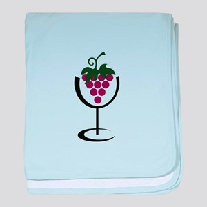WINE GLASS GRAPES baby blanket