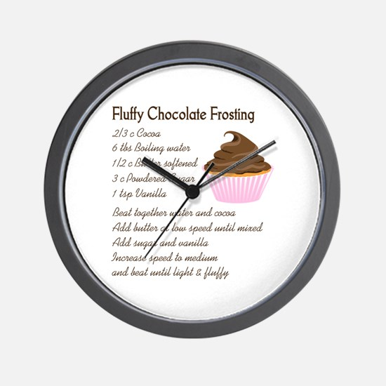 CHOCOLATE FROSTING RECIPE Wall Clock