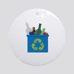 Full Recycle Bin Ornament (Round)