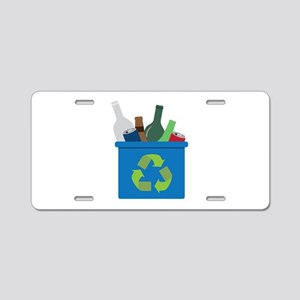 Full Recycle Bin Aluminum License Plate