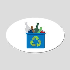 Full Recycle Bin Wall Decal