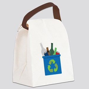 Full Recycle Bin Canvas Lunch Bag