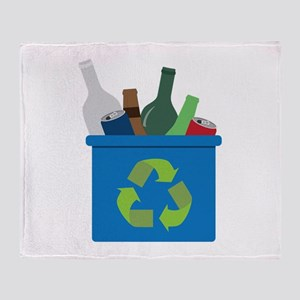 Full Recycle Bin Throw Blanket
