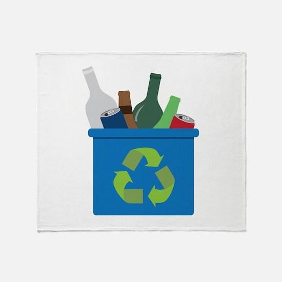 Full Recycle Bin Throw Blanket