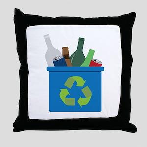 Full Recycle Bin Throw Pillow