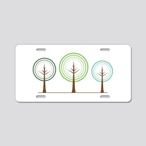Abstract Trees Aluminum License Plate