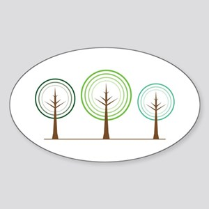 Abstract Trees Sticker