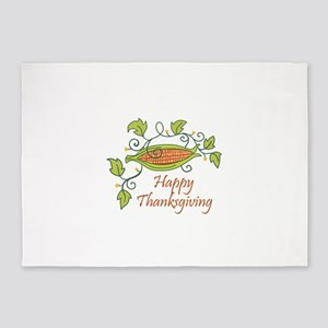 HAPPY THANKSGIVING 5'x7'Area Rug