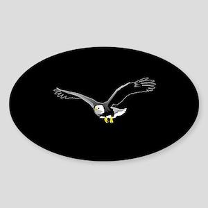 Bald Eagle Illustration Oval Sticker