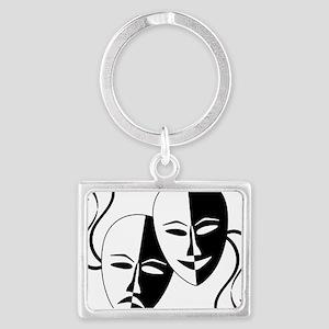 Theatre Masks for Theatre Lover Landscape Keychain