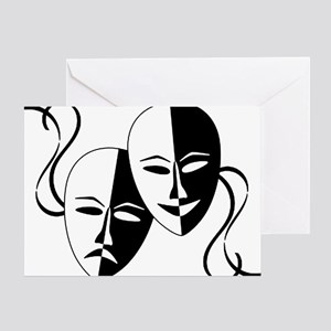Theatre Masks for Theatre Lover Greeting Card