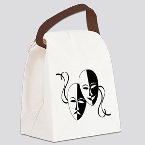Theatre Masks for Theatre Lover Canvas Lunch Bag