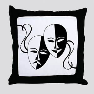 Theatre Masks for Theatre Lover Throw Pillow