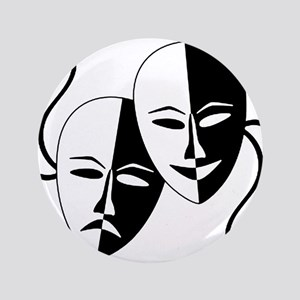 "Theatre Masks for Theatre Lover 3.5"" Button"