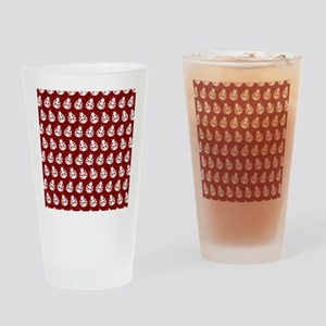Red and White Cute Ladybugs Pattern Drinking Glass