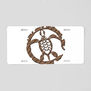 Stone Turtle Aluminum License Plate