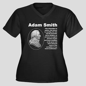 Smith Inequa Women's Plus Size V-Neck Dark T-Shirt