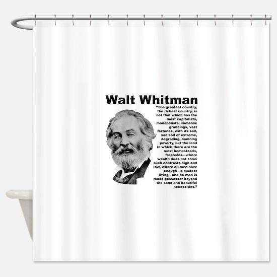 Whitman Inequality Shower Curtain