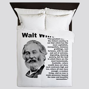 Whitman Inequality Queen Duvet