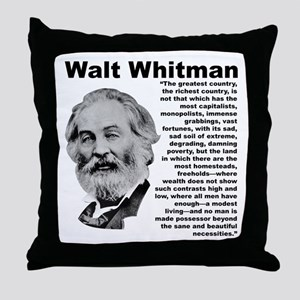 Whitman Inequality Throw Pillow