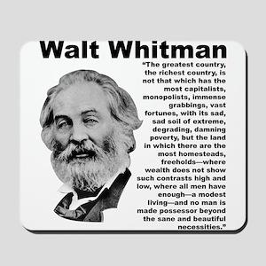 Whitman Inequality Mousepad