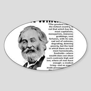 Whitman Inequality Sticker (Oval)