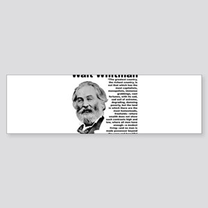 Whitman Inequality Sticker (Bumper)