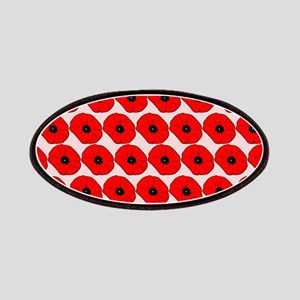 Big Red Poppy Flowers Pattern Patches