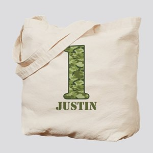 Green Camo 1st Birthday Tote Bag