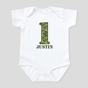 Green Camo 1st Birthday Infant Bodysuit
