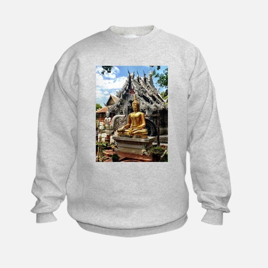 Golden Buddha at Silver Temple Sweatshirt