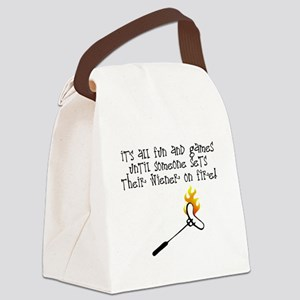Fun and Games Canvas Lunch Bag