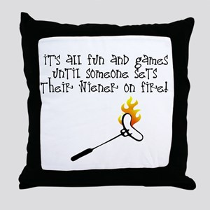 Fun and Games Throw Pillow