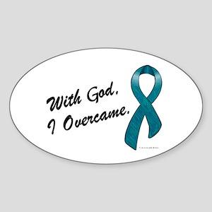 I Overcame (OC) Oval Sticker