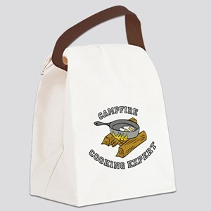 Campfire Cooking Expert Canvas Lunch Bag