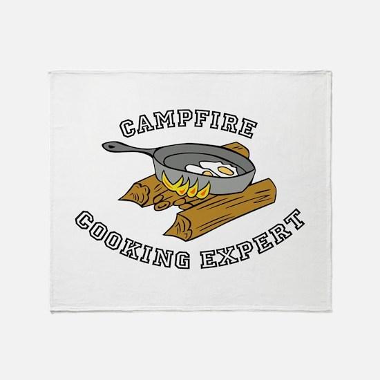 Campfire Cooking Expert Throw Blanket