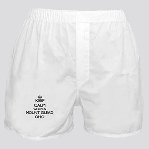 Keep calm we live in Mount Gilead Ohi Boxer Shorts