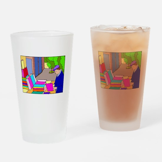 Book Vendor Drinking Glass