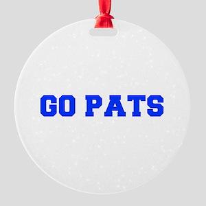 Go Pats-Fre blue Ornament