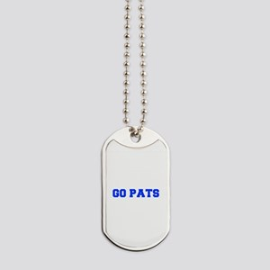 Go Pats-Fre blue Dog Tags