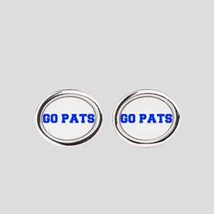 Go Pats-Fre blue Oval Cufflinks