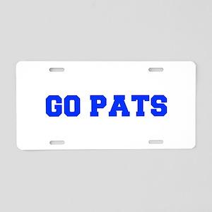 Go Pats-Fre blue Aluminum License Plate