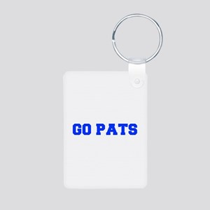 Go Pats-Fre blue Keychains