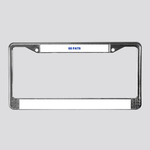 Go Pats-Fre blue License Plate Frame